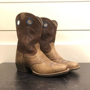 Ariat Roughstock Tan Western Boots Boys Size 5